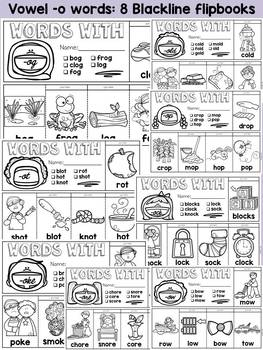 WORD FAMILY FLIPBOOKS: VOWEL -O WORDS: PHONICS