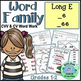 WORD FAMILY LONG E CV CVV e ee Word Work Activities Assessments