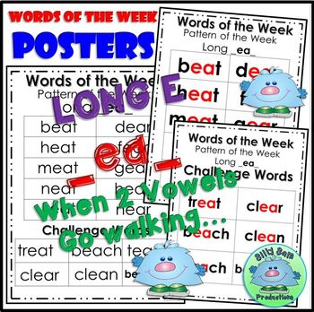 WORD FAMILY LONG E ea CVVC Word Work Activities Assessments