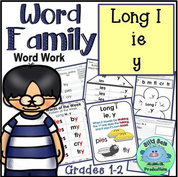 WORD FAMILY LONG I ie y Word Work Activities Assessments