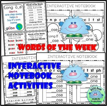 WORD FAMILY LONG O SILENT E Word Work Activities Assessments Interactive NB