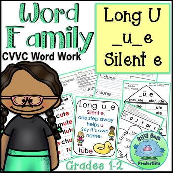 WORD FAMILY LONG U SILENT E Word Work Activities Assessments