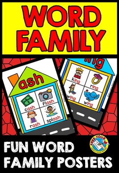 WORD FAMILY POSTERS: WORD FAMILY HOUSES VISUALS: WORD FAMILY PRINTABLES