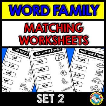 WORD FAMILIES WORKSHEETS (KINDERGARTEN PHONICS WORKSHEETS, FIRST GRADE