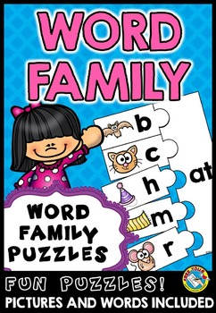 WORD FAMILIES ACTIVITY: WORD FAMILY PUZZLES: ONSET AND RIME WORD FAMILY CENTER
