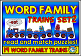 WORD FAMILY FLUENCY STRIPS (WORD FAMILY PUZZLE TRAINS) WOR