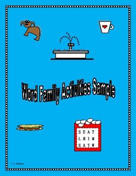 WORD FAMILY SAMPLER