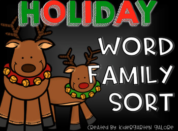 WORD FAMILY SORT - Holiday