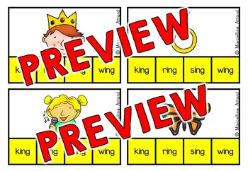 WORD FAMILIES ACTIVITY: WORD FAMILIES CLIP CARDS: WORD FAMILY LITERACY CENTER