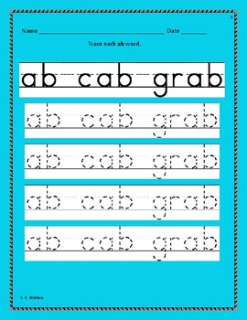 WORD FAMILY WORKBOOK AB-AY