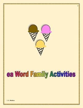 WORD FAMILY WORKBOOK EA-EW