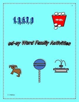 WORD FAMILY WORKBOOK OD- OY