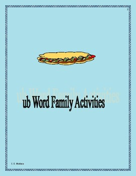 WORD FAMILY WORKBOOK UB-UT