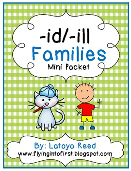 WORD FAMILY id and ill Packet
