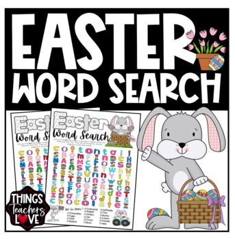 Word Find/Word Hunt Template - Easter Theme - Letter Size PDF Printable