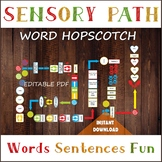 WORD Sensory Path for floor, Printable floor decals, Words