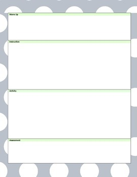 (WORD) NGSS Lesson Template - Gray/Lime Polka Dot