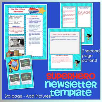 SUPERHEROES - Newsletter Template WORD