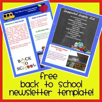 Free! WELCOME BACK TO SCHOOL Newsletter Template WORD  Free School Newsletter Templates For Word