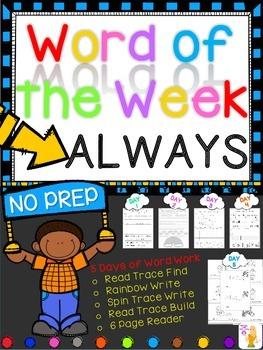 WORD OF THE WEEK - ALWAYS