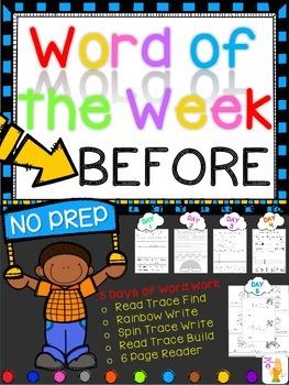 WORD OF THE WEEK - BEFORE