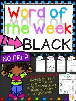 WORD OF THE WEEK - BLACK