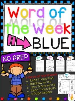 WORD OF THE WEEK - BLUE