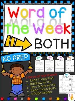 WORD OF THE WEEK - BOTH