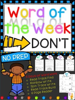 WORD OF THE WEEK - DON'T