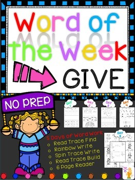 WORD OF THE WEEK - GIVE