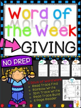 WORD OF THE WEEK - GIVING