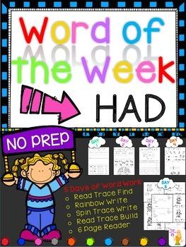 WORD OF THE WEEK - HAD