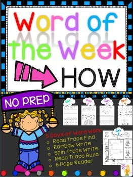 WORD OF THE WEEK - HOW