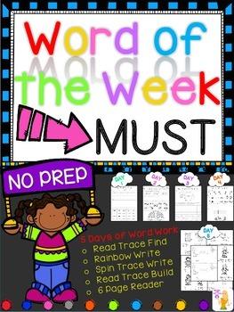 WORD OF THE WEEK - MUST