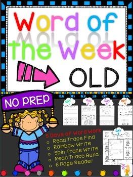 WORD OF THE WEEK - OLD