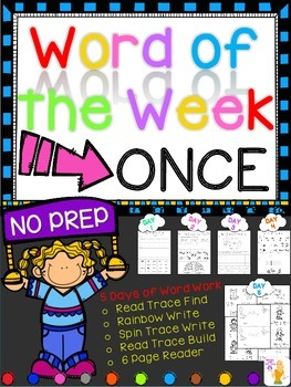 WORD OF THE WEEK - ONCE