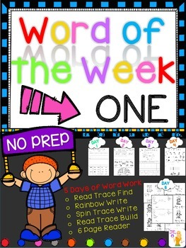 WORD OF THE WEEK - ONE