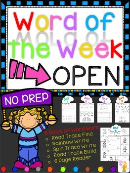 WORD OF THE WEEK - OPEN