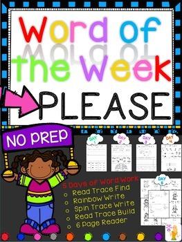 WORD OF THE WEEK - PLEASE