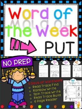 WORD OF THE WEEK - PUT
