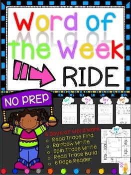 WORD OF THE WEEK - RIDE