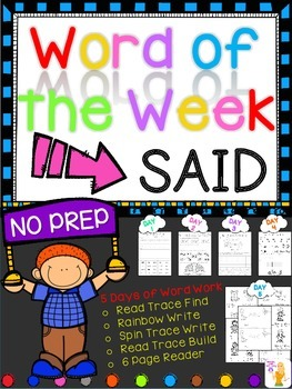 WORD OF THE WEEK - SAID