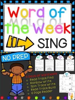 WORD OF THE WEEK - SING