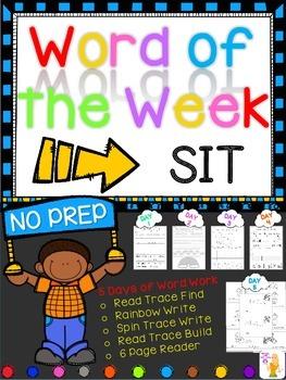 WORD OF THE WEEK - SIT