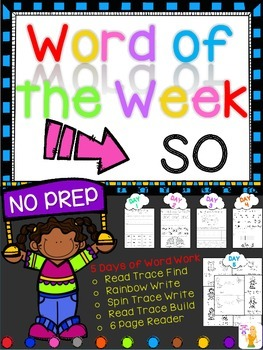 WORD OF THE WEEK - SO