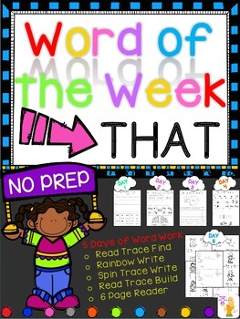 WORD OF THE WEEK - THAT