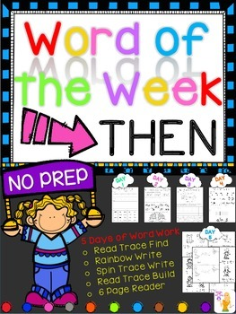 WORD OF THE WEEK - THEN