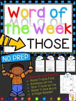 WORD OF THE WEEK - THOSE