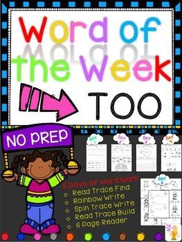 WORD OF THE WEEK - TOO