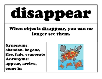 WORD OF THE WEEK! VOCABULARY CARDS! WEEKLY WORDS! Set A